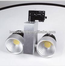 2014 Popular 3 years warranty high lumen cri90 white silver black cob led 3 phase track spotlight 60w