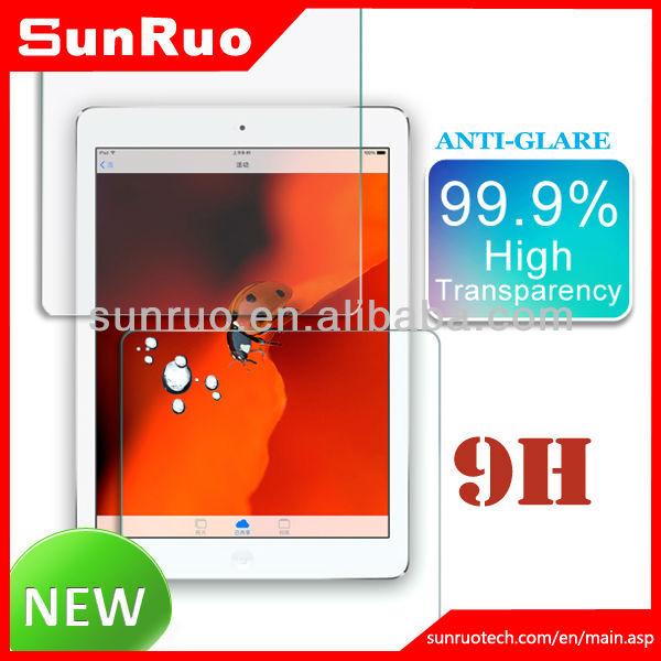 Anti-fingerprint premium tempered glass screen guard protectors for IPad Air Ipad Mini