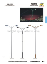 round taper galvanized steel street lamp post with doulbe arm