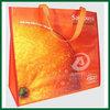 orange full printing non woven bag,shopping bag non woven lamination,full printed lamination bag