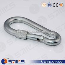 Stainless Steel Snap Hook with Screw, Metal Carabiner
