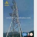 110kv poste eléctrico de la línea de transmisión de acero torre monopolo