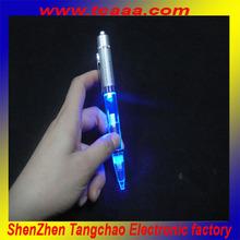 2014 cheap led flashing up bulb pen light up pen