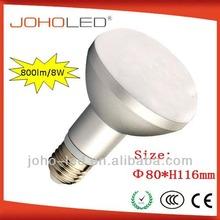 50w halogen equivalent led bulb 100lm/w 800lm 8w led bulb light