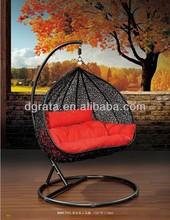2014 fashion leisure rattan hanging basket chair is design for outdoor Patio garden