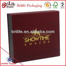 High Quality Fashion Custom Paper box embossed gift