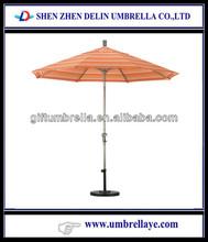 Adjustable aluminum crank & tilt outdoor umbrella