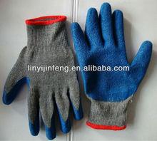 PVC coated /PU coate /rubber coated gloves crinkle finished latex coated glove