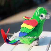 Green lucky parrot bird keychain plush toy