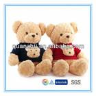 Plush sit on animals toys sweater teddy bear