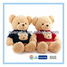 Plush sit on animals toys sweater teddy bear
