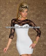 2014 Hot selling ladies sexy club dress cotton prom wear R9033-2