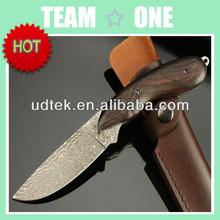 OEM Damascus Steel 58HRC Hawk Emissary Fixed Blade Survival Knife