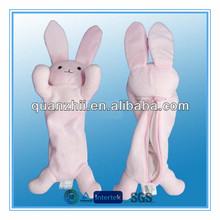 Animal shape plush pencil case rabbit design
