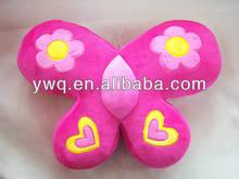 2014 Butterfly shape Plush Red Cushion /plush Cushion soft /Plush back cushion