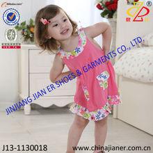 hot sale cotton fabric wholesale girl dresses kids clothes