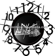 promotional wall clock quartzh/analogue decoration wall clock promotional skeleton wall clock