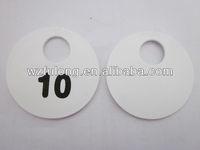 custom numbered plastic chips