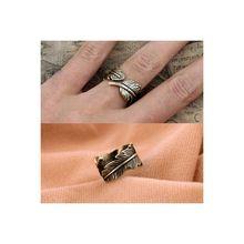 Stock Jewelry Market Vintage Curve leaf rings SJR#-10-a