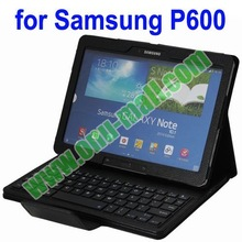 Detachable Bluetooth Keyboard for Samsung Galaxy Note 10.1 P600 with Leather Case