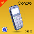 GSM elders phones which has FM radio/big keyboard/loud voice/CE certification Concox GS503