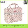 Top grade design plain tote bag cotton with pvc