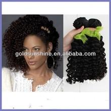 Jerry curl 6A unprocessed Brazilian Virgin Hair , Human Hair Extensions