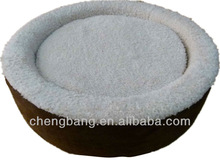berber fleece round comfortable pet bed plush pet bed