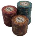 personalizado de cerámica de póquer papasfritas