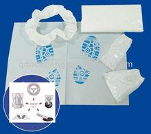 5 in 1 usa e getta auto pulite kit auto prodotto di cura( copertura di sede, footmat coprivolante)