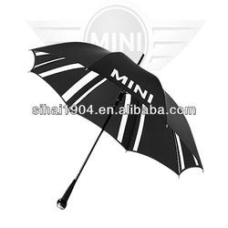 "hot sales 27""*8k auto open black golf umbrella for mini gift umbrella"