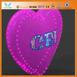 New design inflatable heart shaped led helium balloon