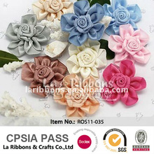 Handmade Decorative Satin Ribbon Roses