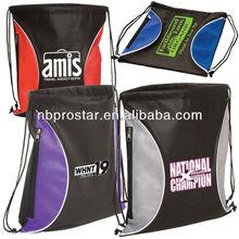 Sling tote bag with side zipper pocket,printing logo back pack