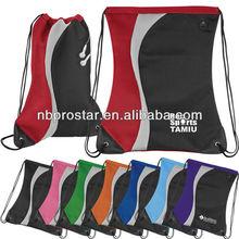 Fashion drawsting backpack,sling tote bag,new model sting mesh tote bag