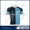 de diseño libre y de secado rápido de color negro y azul camisetas de ciclismo