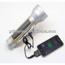 Solar Torch light with cell phone charger