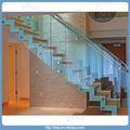 Moderno de vidrio la escalera recta/para escalera de interior
