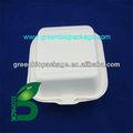 Eco- friendly descartáveis biodegradáveis celulose de bambu clamshell caixas