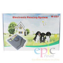 China Wholesale Pet Product Boundary Control Electric Outdoor Dog Fence Waterproof Dog Training Collar