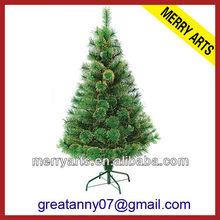 2ft(60cm) solar powered plastic pine needles X'mas tree shop custom wholesale christmas tree