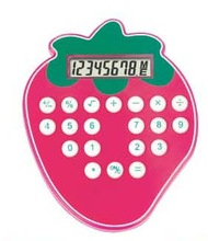stawberry shaped good looking calculator colorful