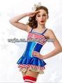 Pirata traje boutique, o mais novo! Exquisited lírico vestido de dança latina para venda