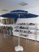 adjustable air vent garden parasol umbrella with zinc-alloy tilt