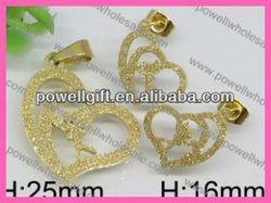 Sexy pretty acrylic crystal teardrops pendant and earrings set