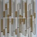 hermosa del metro de vidrio mezclado mosaico de mármol y travertino