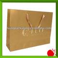 Luxo artesanato papel saco de compras para vestuário de couro