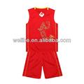 2014 baratos uniformes de basquete basquetebol jersey cor vermelha baratos planície de basquete