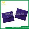 Custom logo embossed velvet pouch
