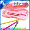 box plastic pencil case /colourful pencil case/pencil case recycled